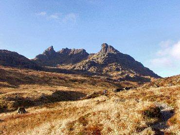 Picture of the valley between Ben Arthur and Ben Narnairn