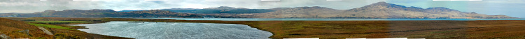 Picture of a panoramic view over the Sound of Islay
